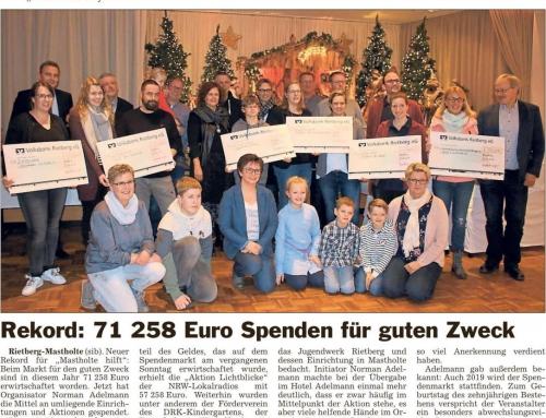Rekord: 71.258 EURO Spenden für den guten Zweck