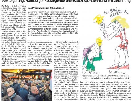 Udo Lindenberg schwingt die Feder