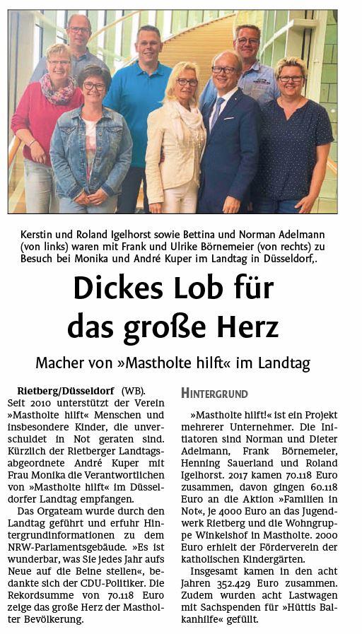 Besuch Landtag Düsseldorf